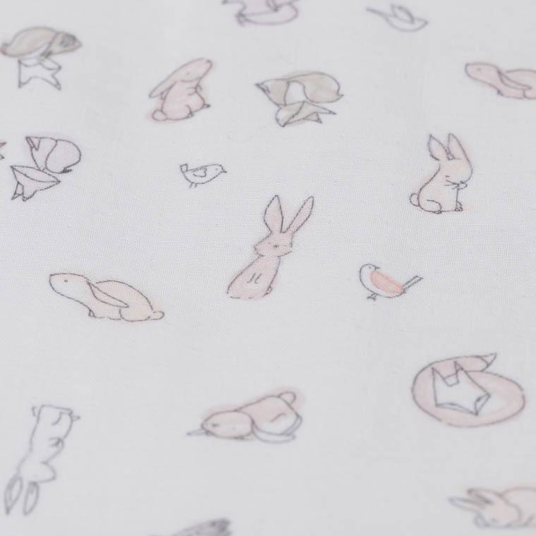 Nid d'ange coton biologique imprimé animaux Imagine - 1