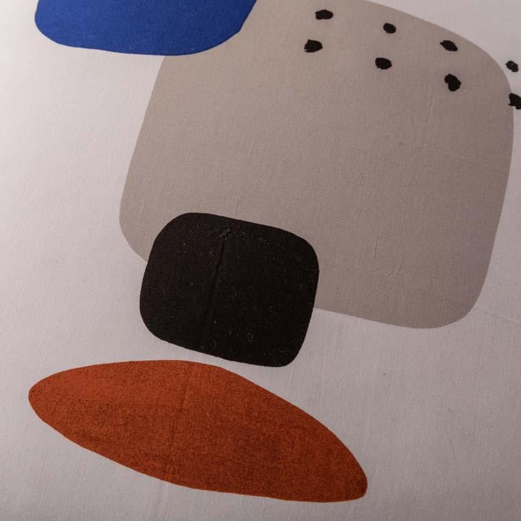 Taie d'oreiller rectangulaire percale de coton imprimée graphique Kuro   - 13