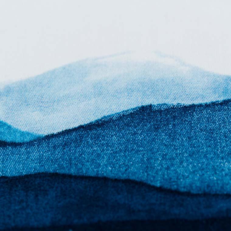 Taie d'oreiller rectangulaire percale de coton imprimée paysage de montagne Le lac - 12