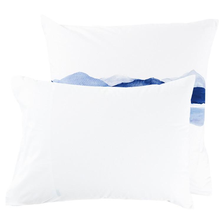 Taie d'oreiller rectangulaire percale de coton imprimée paysage de montagne Le lac - 10