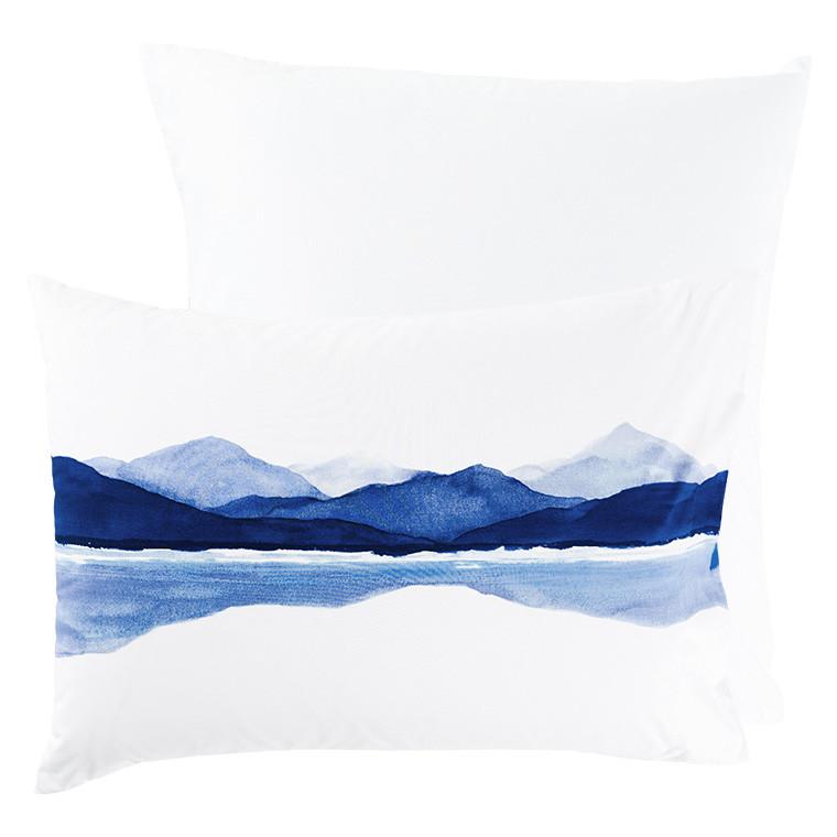 Taie d'oreiller rectangulaire percale de coton imprimée paysage de montagne Le lac - 9