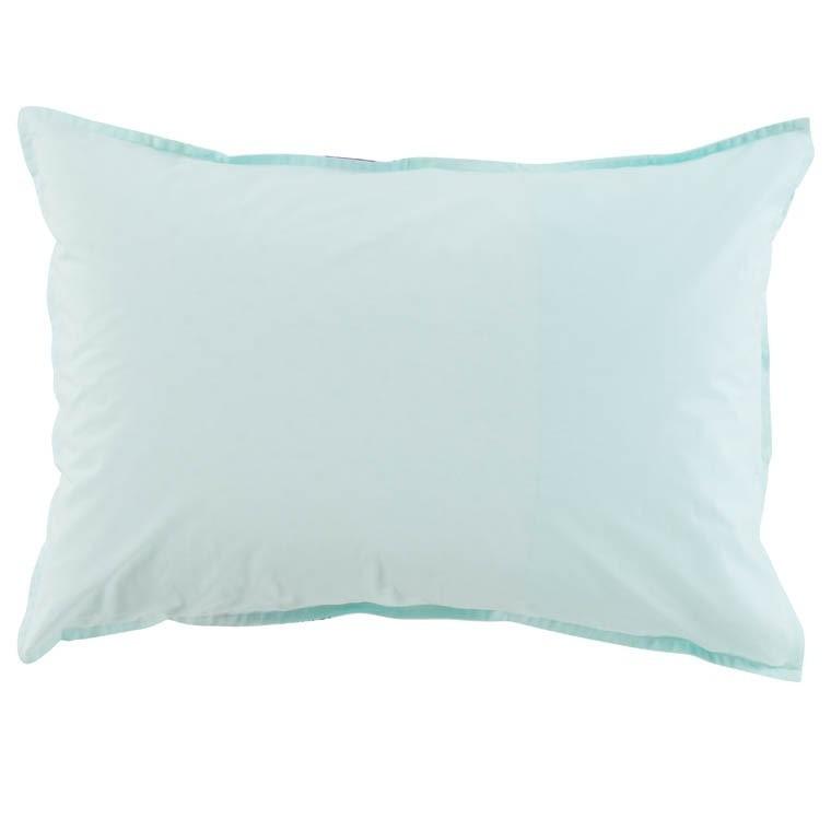 Taie d'oreiller rectangulaire percale de coton Leveza - 1