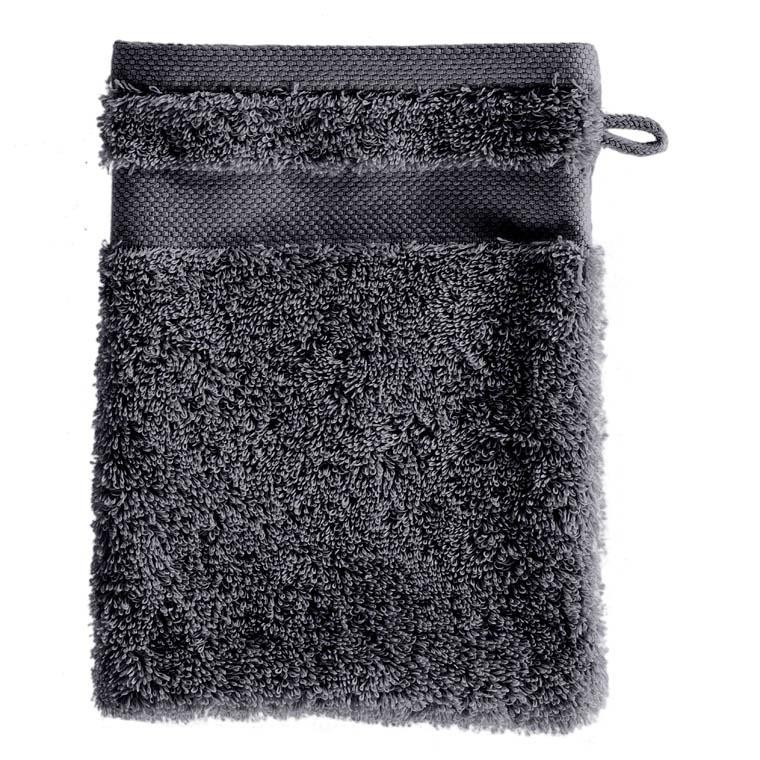 Gant de toilette coton Lola II ardoise - 0