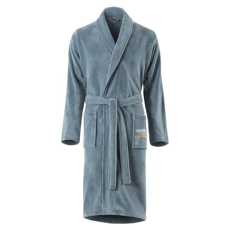 robe de chambre homme lorenzo glacier carre blanc