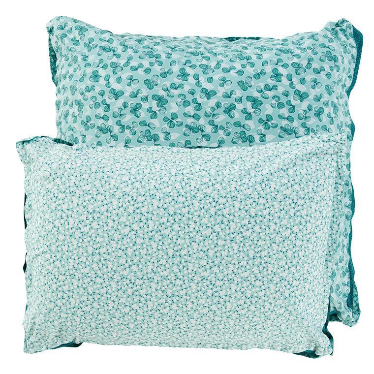 Taie d'oreiller carrée percale de coton imprimée liberty fleurs Ondine - 5