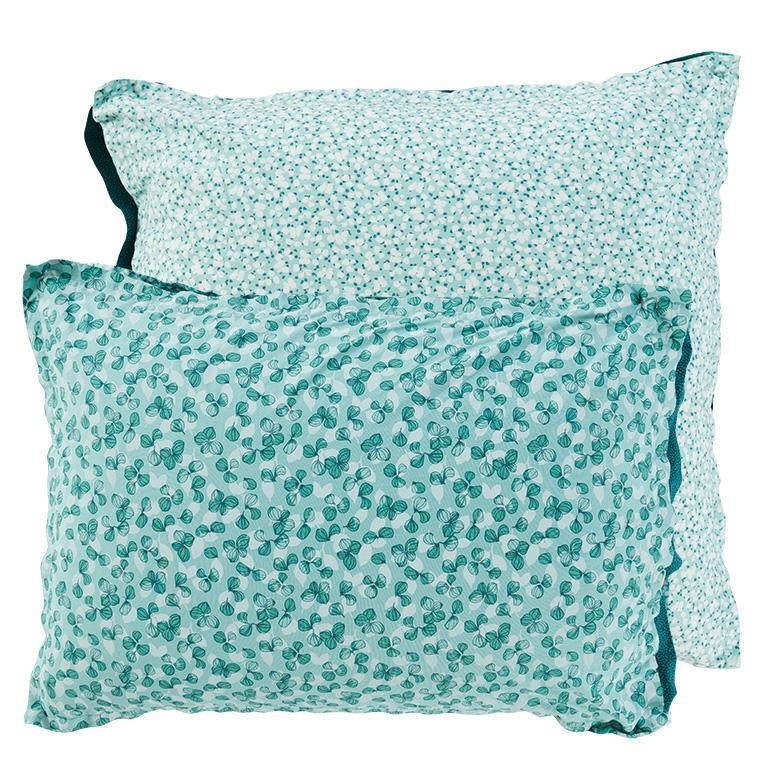 Taie d'oreiller carrée percale de coton imprimée liberty fleurs Ondine - 6