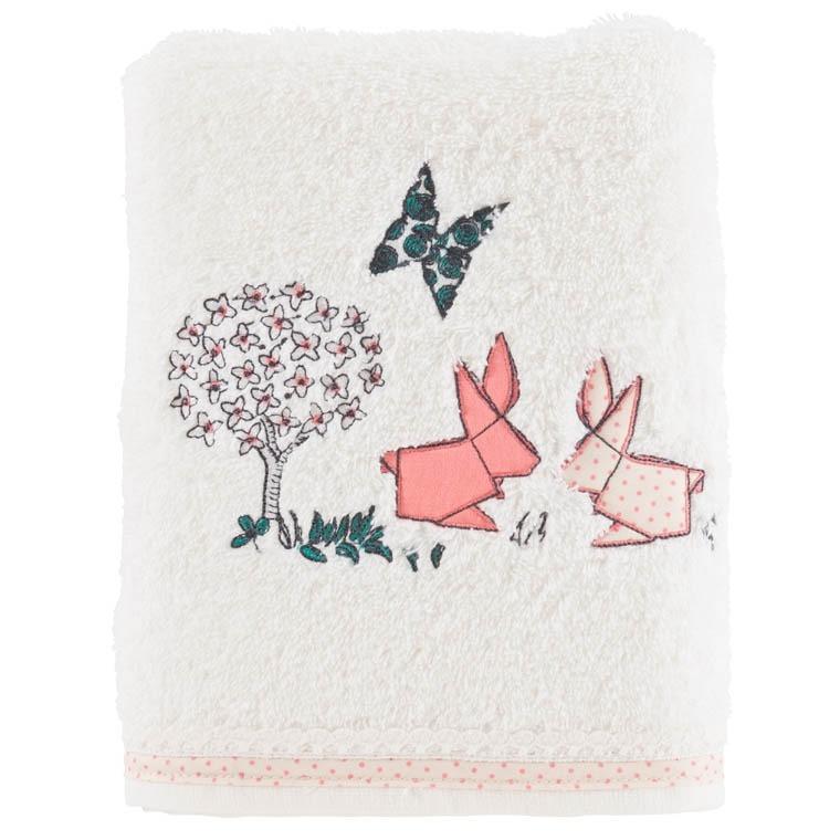 serviette de toilette louise ivoire carre blanc. Black Bedroom Furniture Sets. Home Design Ideas