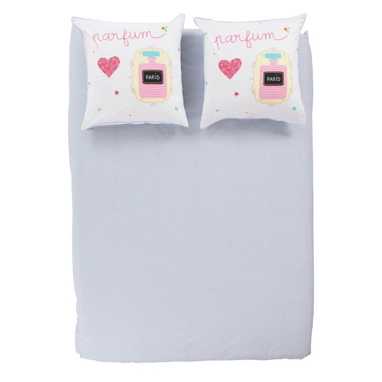 Housse de couette lovely carre blanc for Carre blanc housse de couette