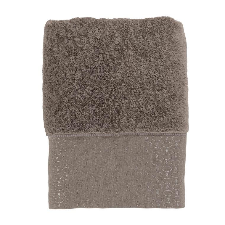 serviette de toilette maestro taupe carre blanc. Black Bedroom Furniture Sets. Home Design Ideas