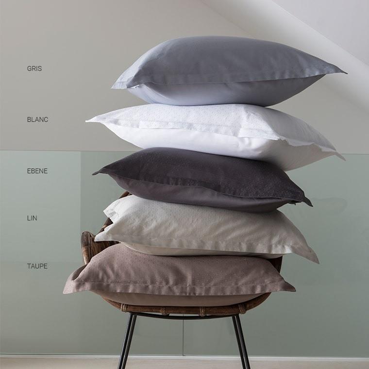 taie d 39 oreiller carr maestro blanc carre blanc. Black Bedroom Furniture Sets. Home Design Ideas