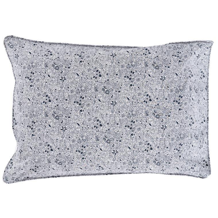 Taie d'oreiller rectangulaire percale de coton poisson mandala Mahoa - 1