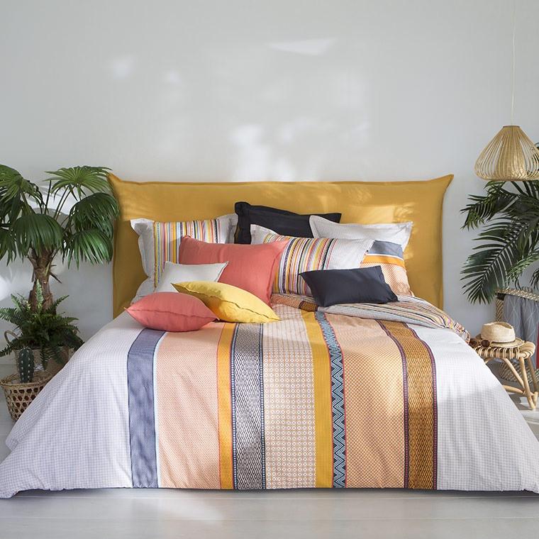 housse de couette marlow carre blanc. Black Bedroom Furniture Sets. Home Design Ideas