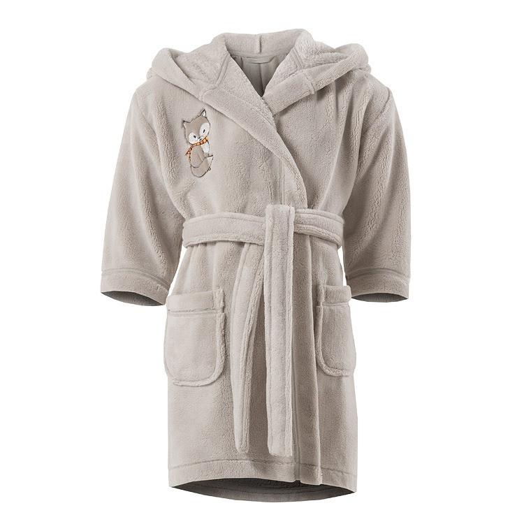 Robe de chambre enfant maxou lin carre blanc - Robes de chambre enfants ...