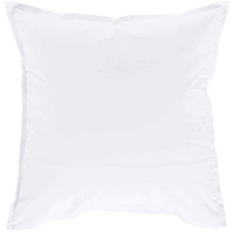 Taie d'oreiller carrée percale de coton Neo blanc - 1