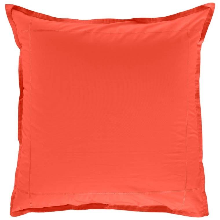 Taie d'oreiller carrée percale de coton Neo safran - 0