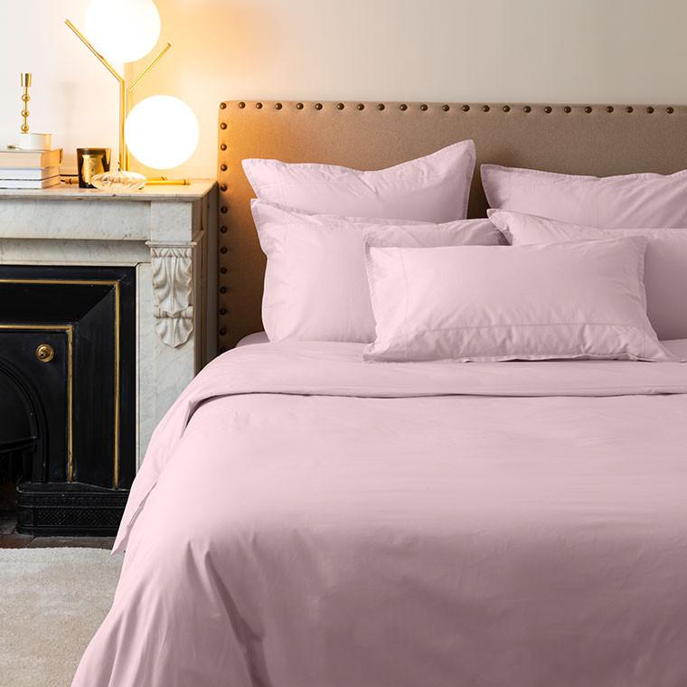 Parure de lit percale de coton Neo poudre - 2