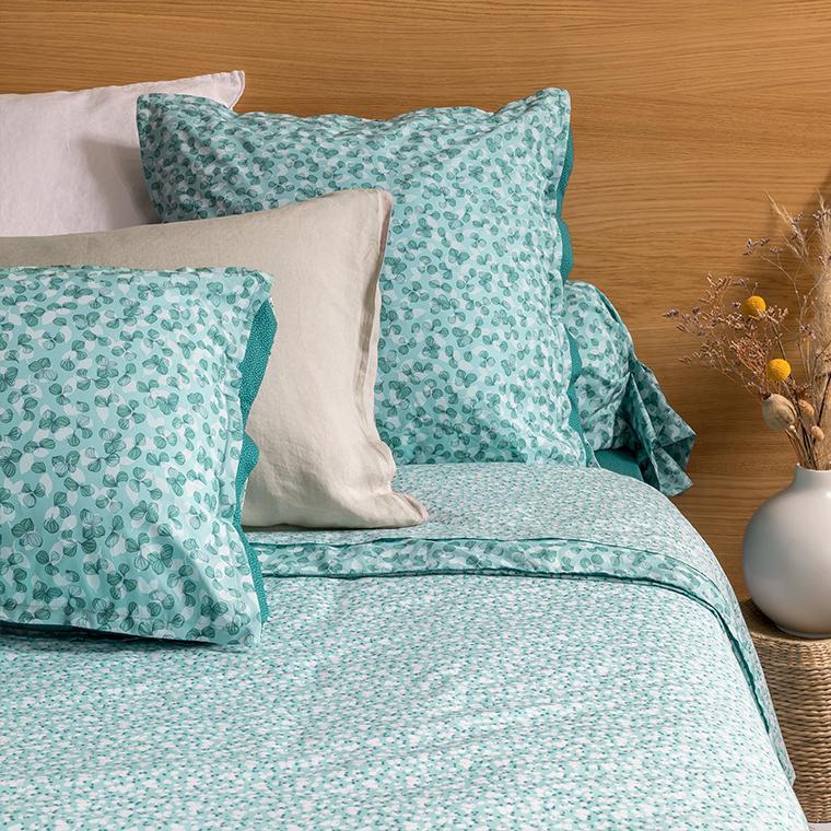 Parure de lit percale de coton imprimée liberty fleurs Ondine bohème - vintage - 1