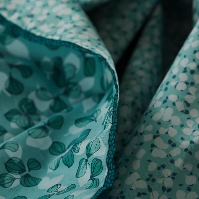 Parure de lit percale de coton imprimée liberty fleurs Ondine bohème - vintage - 2