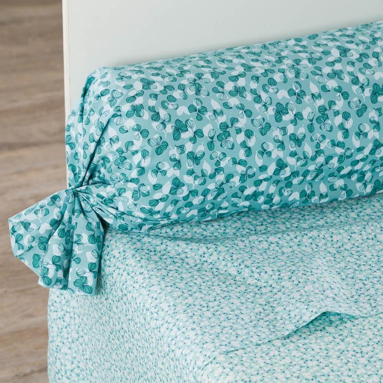Parure de lit percale de coton imprimée liberty fleurs Ondine bohème - vintage - 6