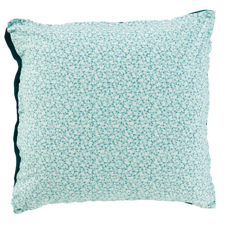 Taie d'oreiller carrée percale de coton imprimée liberty fleurs Ondine - 1