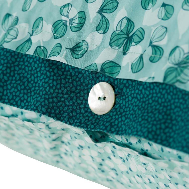Taie d'oreiller carrée percale de coton imprimée liberty fleurs Ondine - 4