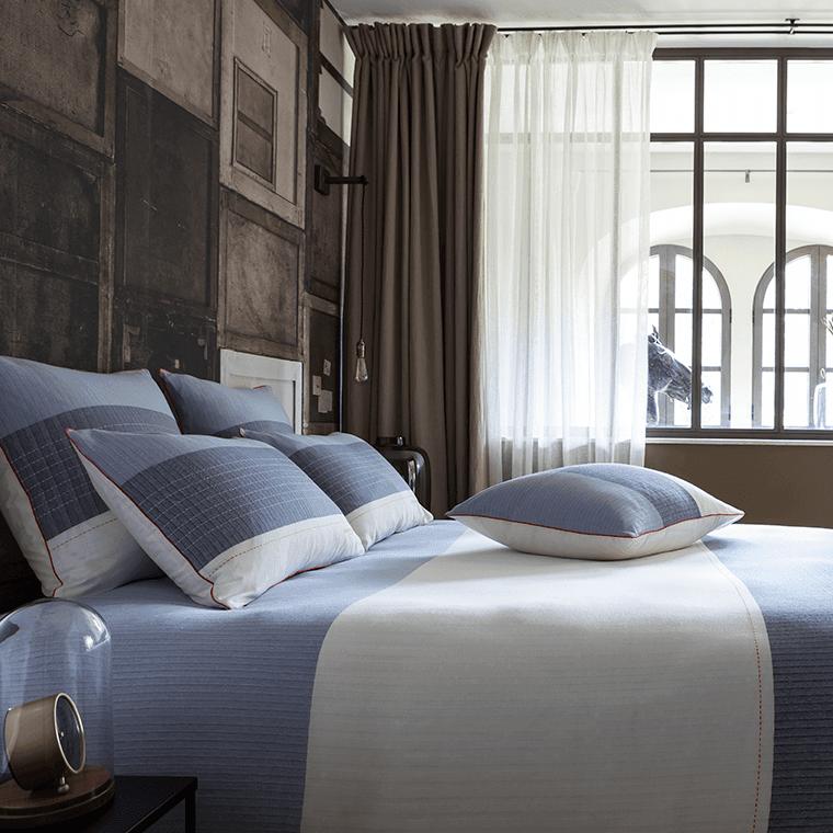 housse de couette auteuil roland garros carre blanc. Black Bedroom Furniture Sets. Home Design Ideas