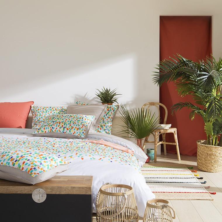 housse de couette carioca carre blanc. Black Bedroom Furniture Sets. Home Design Ideas