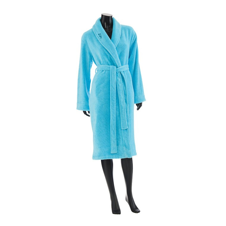 peignoir femme lana turquoise carre blanc. Black Bedroom Furniture Sets. Home Design Ideas