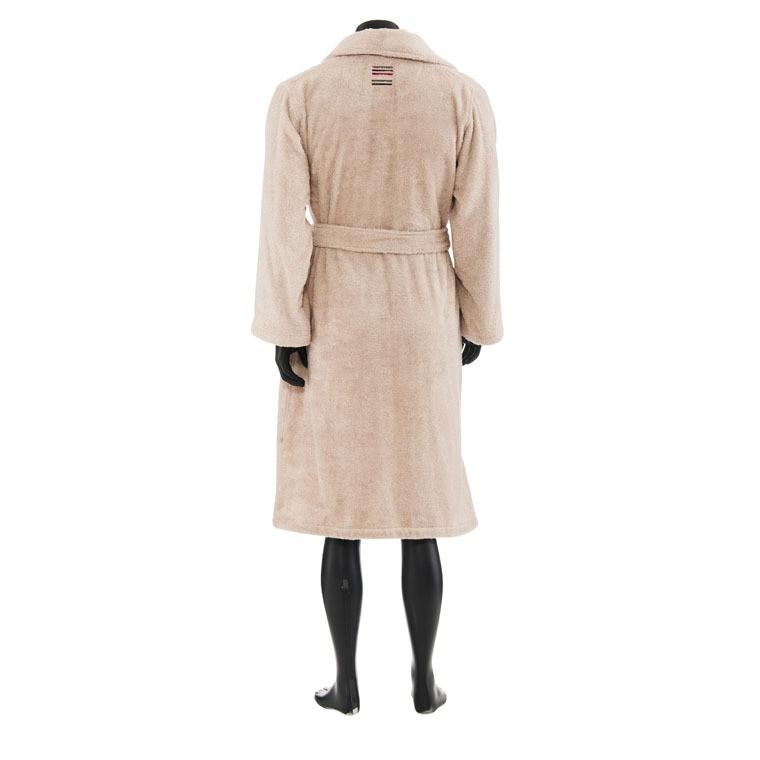 peignoir homme en coton d 39 egypte lin pablo carr blanc. Black Bedroom Furniture Sets. Home Design Ideas