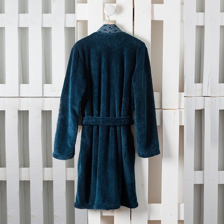 Robe de chambre homme PRESTON BLEU NUIT - 1