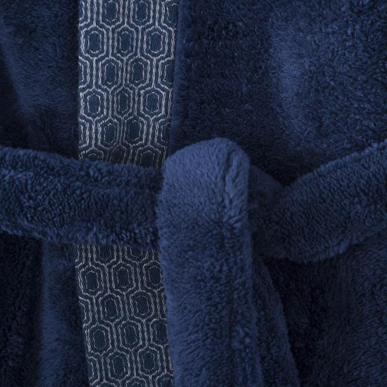 Robe de chambre homme PRESTON BLEU NUIT - 3