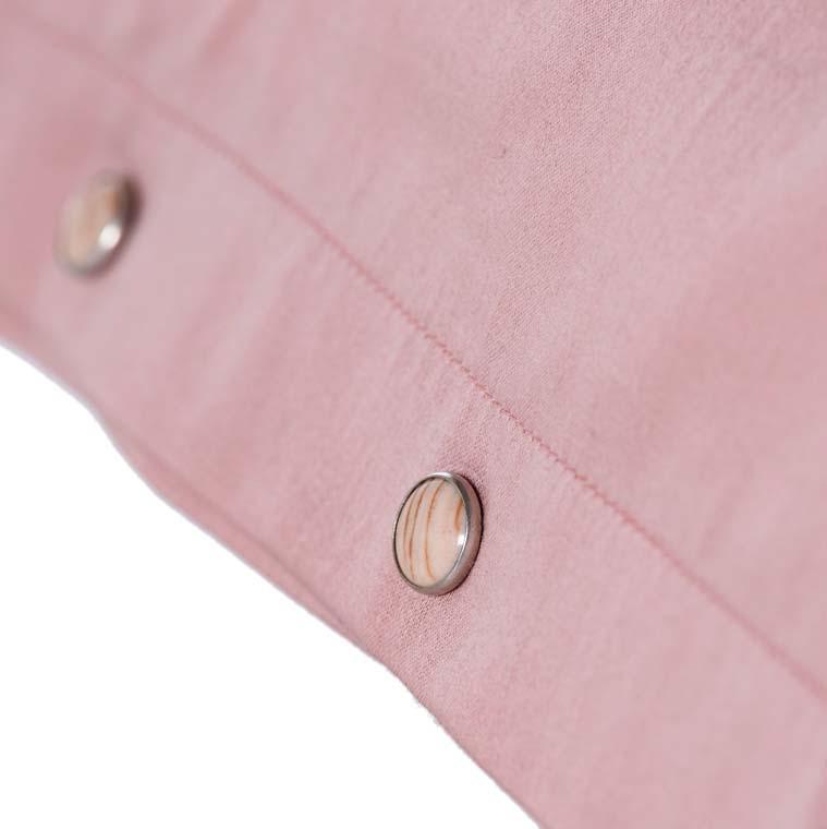 Taie d'oreiller carrée satin de coton lavé bio Quartz blush - 3