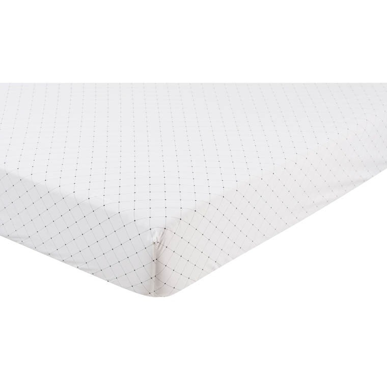 drap housse roxie carre blanc. Black Bedroom Furniture Sets. Home Design Ideas