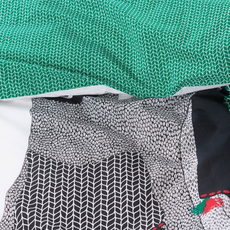 Housse de couette percale de coton imprimé Serge - 3