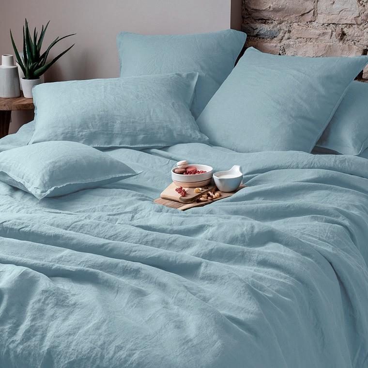 Parure de lit lin et coton lavé Songe plusieurs coloris - 7