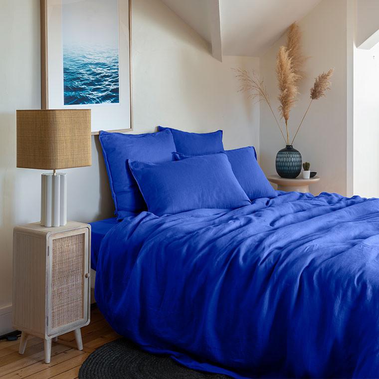 Parure de lit lin et coton lavé Songe plusieurs coloris - 1