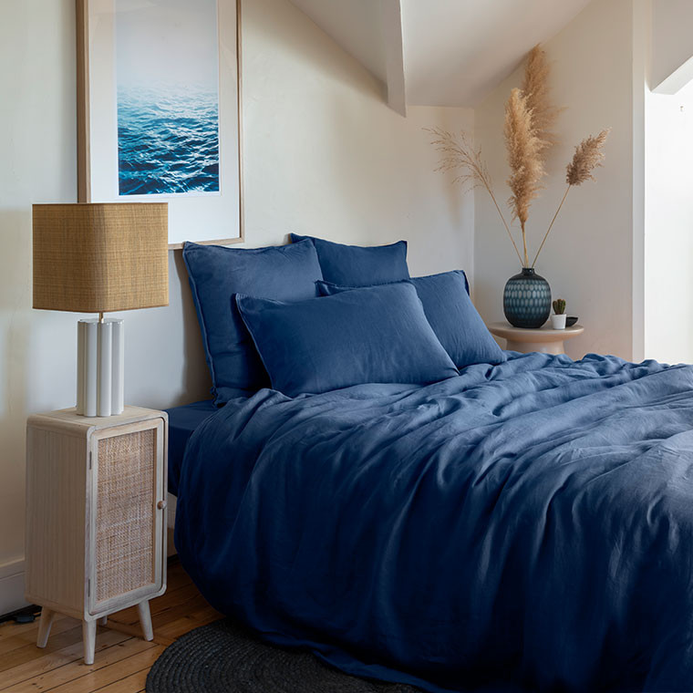 Parure de lit lin et coton lavé Songe plusieurs coloris - 6