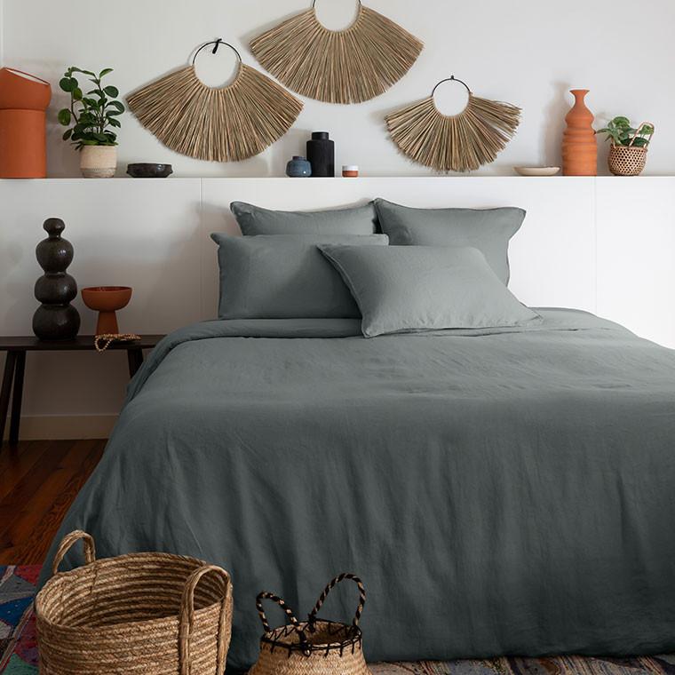Parure de lit lin et coton lavé Songe plusieurs coloris - 9