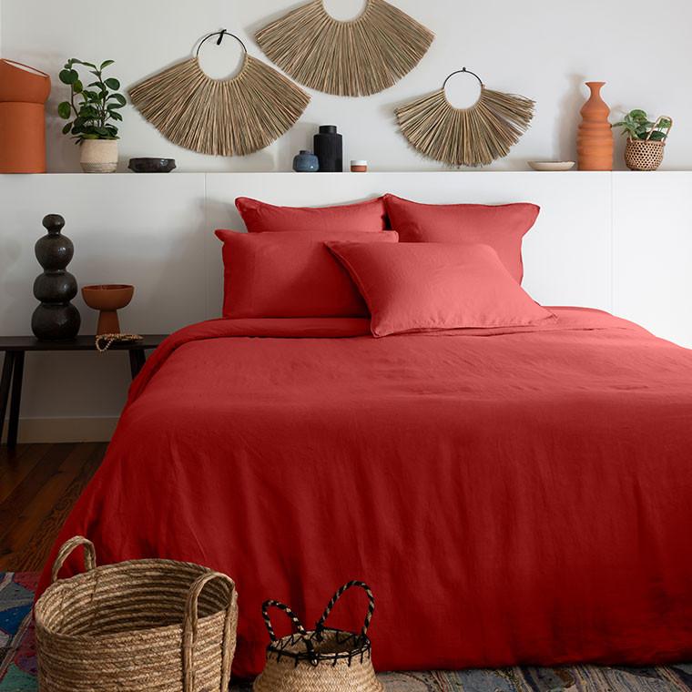 Parure de lit lin et coton lavé Songe plusieurs coloris - 15