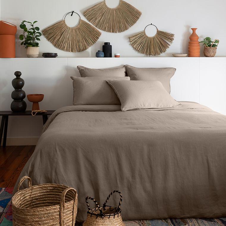 Parure de lit lin et coton lavé Songe plusieurs coloris - 3