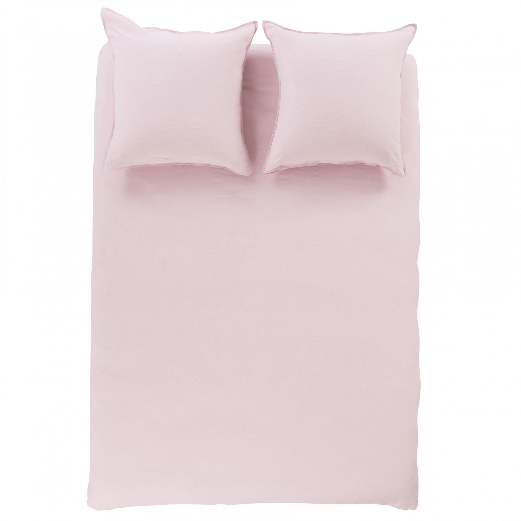 Parure de lit lin et coton lavé Songe poudre - 4