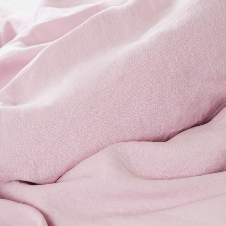 Parure de lit lin et coton lavé Songe poudre - 3