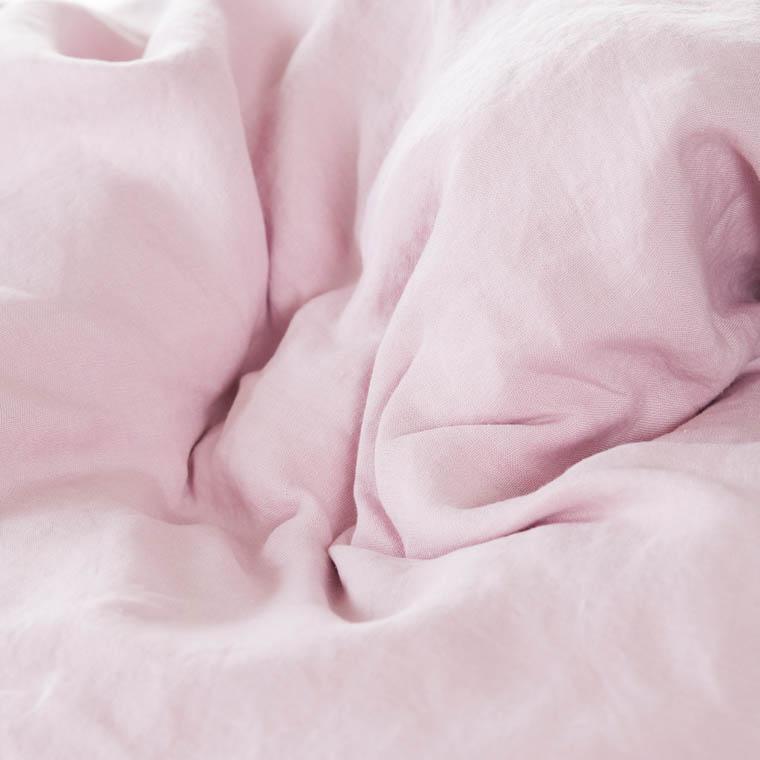 Parure de lit lin et coton lavé Songe poudre - 2