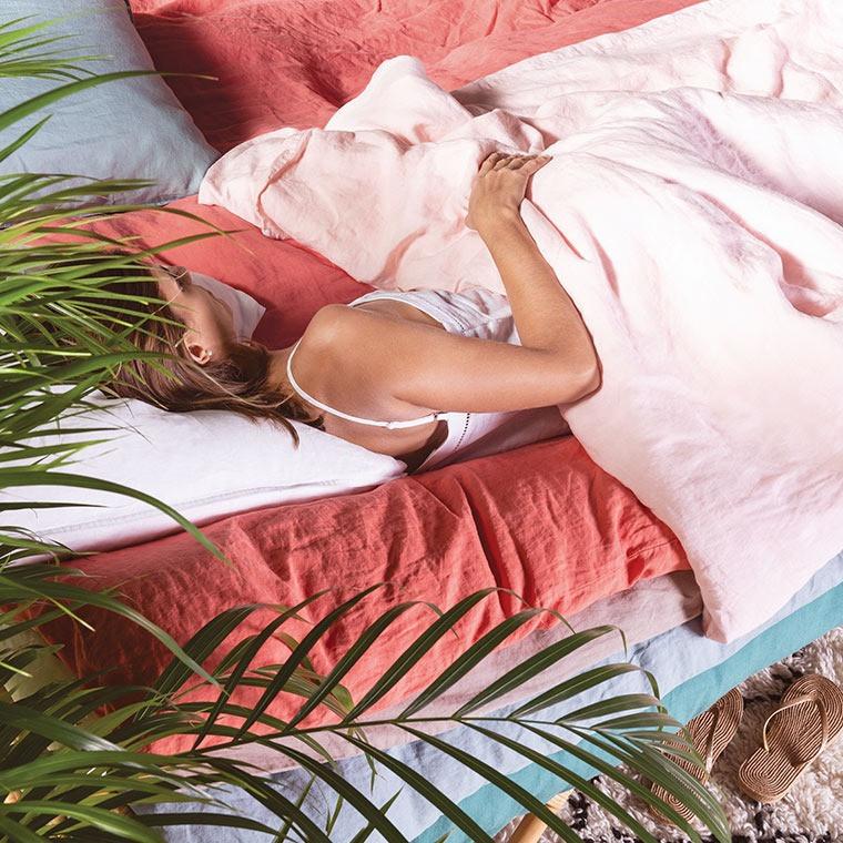 Parure de lit lin et coton lavé Songe plusieurs coloris - 16