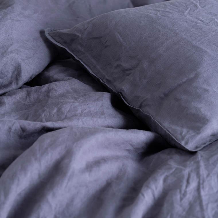Parure de lit en lin lavé Songe anthracite - 2