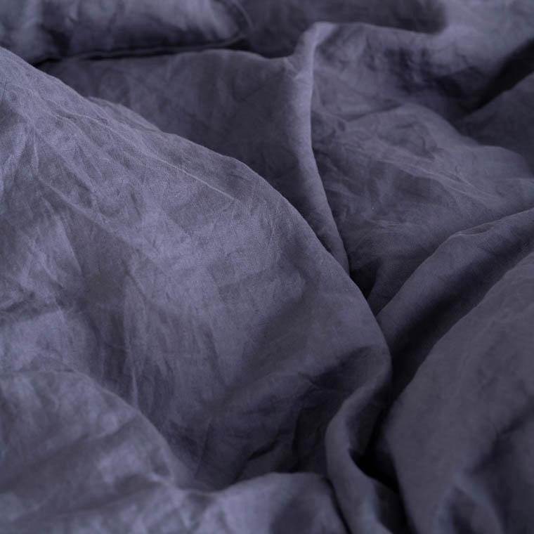Parure de lit en lin lavé Songe anthracite - 1