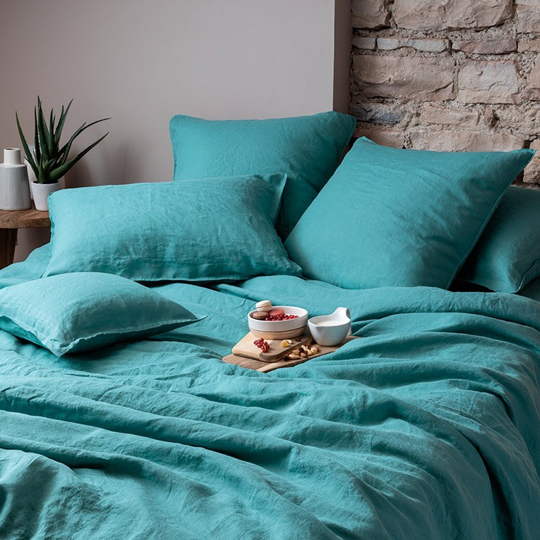 Parure de lit lin et coton lavé Songe plusieurs coloris - 12
