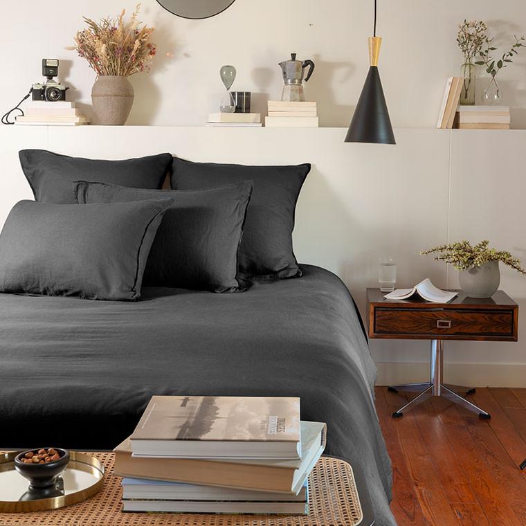 Parure de lit lin et coton lavé Songe plusieurs coloris - 13