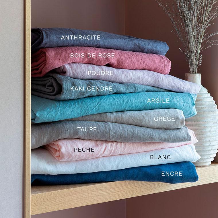 Parure de lit lin et coton lavé Songe poudre - 5