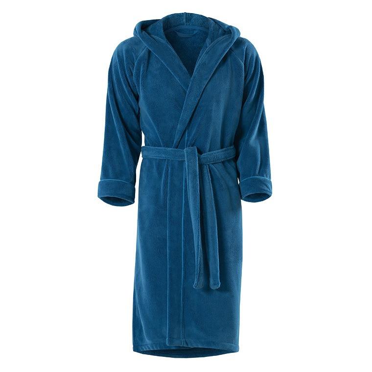 Robe De Chambre Ado Theo Bleu Carre Blanc